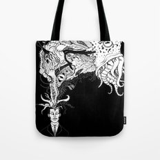 H.P. Monsters Black Tee version Tote Bag