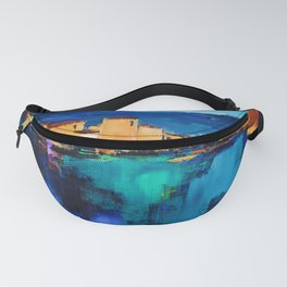 Sunset Over the Village 3 Fanny Pack