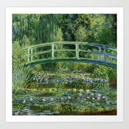 Water Lilies and Japanese Footbridge, Claude Monet Art Print