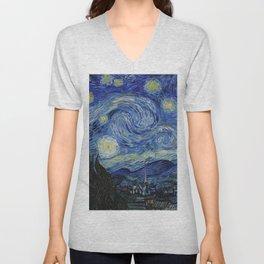 Starry Night by Vincent van Gogh Unisex V-Neck