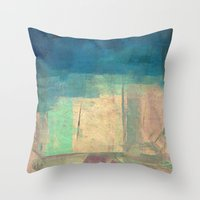 buddhism Throw Pillows featuring गौतम की जागृति (Gautama's Awakening) by Fernando Vieira