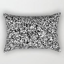 Tiny Spots - White and Black Rectangular Pillow