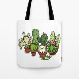 Green - Cactus and Hedgehog Tote Bag