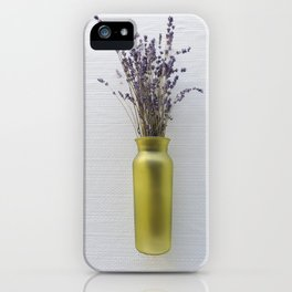 Purple Lavender Green Vase iPhone Case