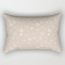 Autumn leaf seamless pattern design beige and brown Rectangular Pillow