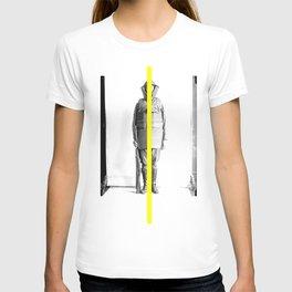 yellow line T-shirt