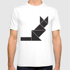 Sphynx cat in geometry Mens Fitted Tee SMALL White