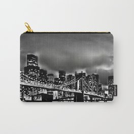 Skyline and Bridge BW Print Carry-All Pouch