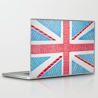 uk Laptop & iPad Skins featuring UK Flag by sinonelineman