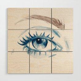Blue eye Wood Wall Art