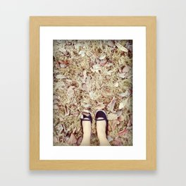 TRACK AND TRAIL Framed Art Print