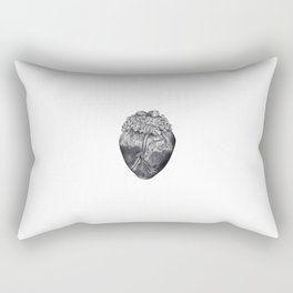 Lilac Heart Rectangular Pillow