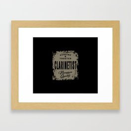 Genuine Clarinetist Framed Art Print