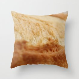 Fresh French Roll Baguette Texture Throw Pillow