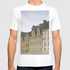 Gent White MEDIUM Mens Fitted Tee