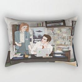 Teen Wolf X-Files AU (Stiles Stilinski & Lydia Martin) Rectangular Pillow