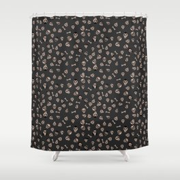 Skull Town (on Charcoal Grey Background) Shower Curtain