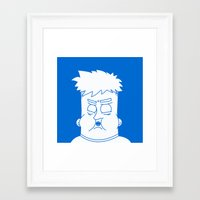 my mad fat diary Framed Art Prints featuring Fat Kid by Jonas Pelzer