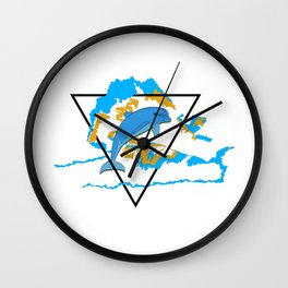 Dolphin in water element Wall Clock