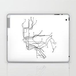 New York City White Subway Map Laptop & iPad Skin