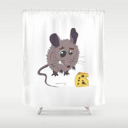 Bettina the Mouse Shower Curtain