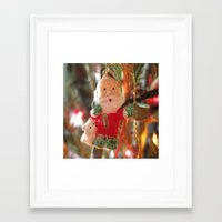 santa Framed Art Prints featuring Santa by lillianhibiscus