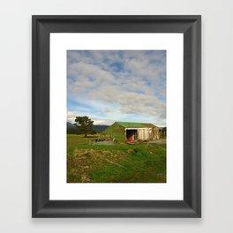 New Zealand Barn Framed Art Print