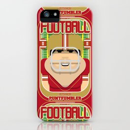 American Football Red and Gold - Enzone Puntfumbler - Victor version iPhone Case