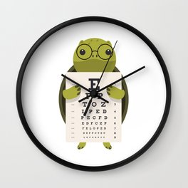 Eye Doctor Optician Turtle Wall Clock