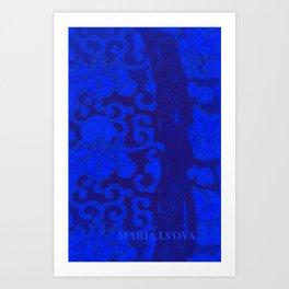 mon jardin bleu Art Print