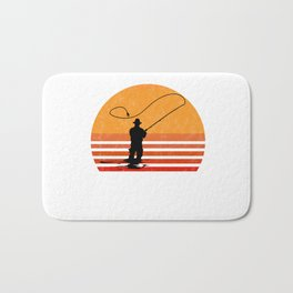 Vintage Fly Fishing Angler Gift Bath Mat