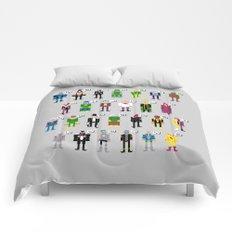 Pixel Supervillain Alphabet Comforters