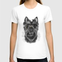 schnauzer T-shirts featuring MR. SCHNAUZER by Sukma Arisanti