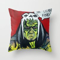 medicine Throw Pillows featuring Medicine Man by Hugo Maldonado