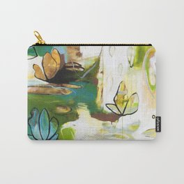 """""""Rise Above"""" Original Painting by Flora Bowley Carry-All Pouch"""