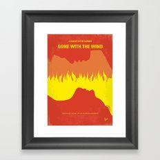 No299 My Gone the Wind with minimal movie poster Framed Art Print