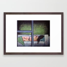Sometimes She Passes Out Drunk Framed Art Print