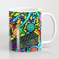 buildings Mugs featuring Buildings  by Marcela Caraballo