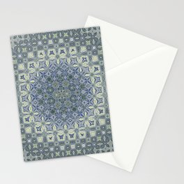 midnight blue butterfly kaleidoskope Stationery Cards