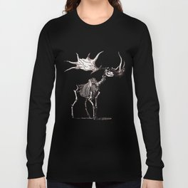 Irish Elk Skeleton Long Sleeve T-shirt