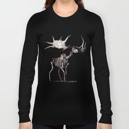 Irish Elk Skeleton Long Sleeve T-shirt