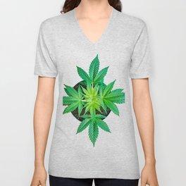 Potted Marijuana Unisex V-Neck