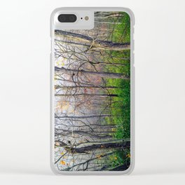 Its cloudy in the tree tops Clear iPhone Case