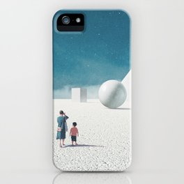 Mom taught me how to look around iPhone Case
