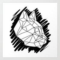 Fractal Cat Art Print