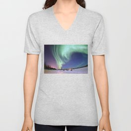 Northern Lights of Alaska Photograph Unisex V-Neck