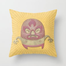 Death Luchador Throw Pillow