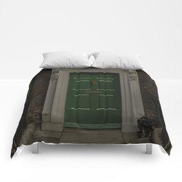 Green Door No Number Comforters