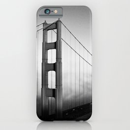 Golden Gate Bridge | Black and White San Francisco Landmark Photography Shot From Marin Headlands iPhone Case