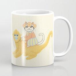 The White Cat with Monkey Coffee Mug